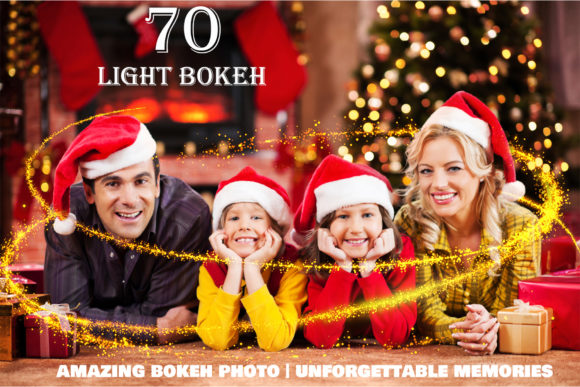 70 Christmas Light Bokeh Photo Overlays Graphic Layer Styles By impresstore