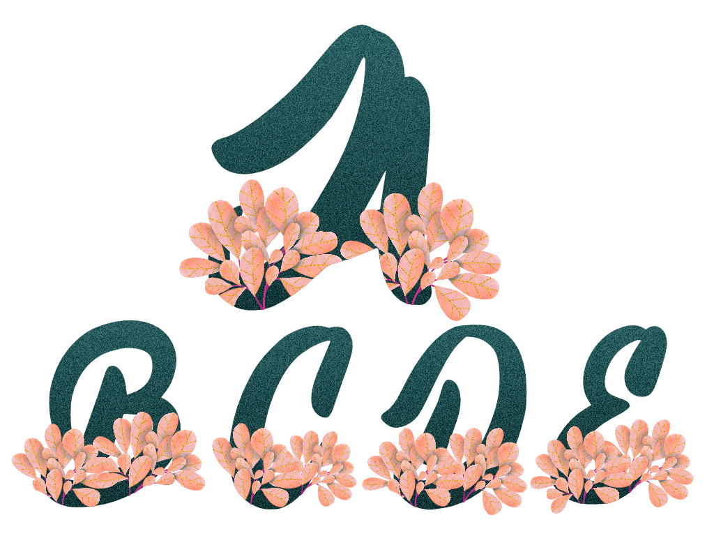 Download Free A B C D E Eric Letter Flower Monogram Graphic By Setiyadissi for Cricut Explore, Silhouette and other cutting machines.