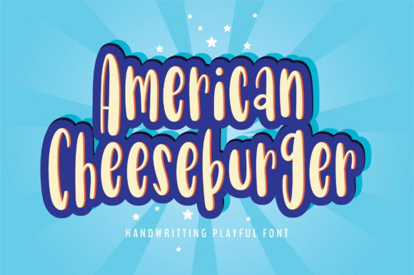 Print on Demand: AmericanCheeseburger Script & Handwritten Font By BitongType