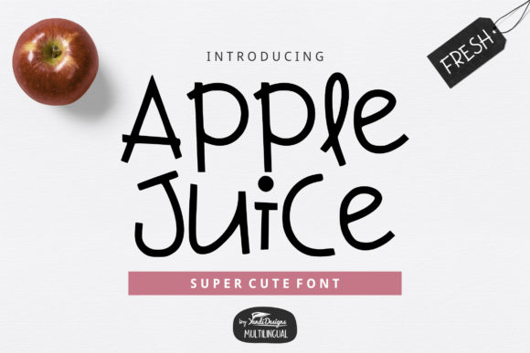 Print on Demand: Apple Juice Sans Serif Font By YandiDesigns