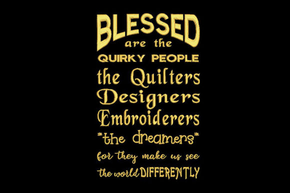 Print on Demand: Artists Quote Sewing & Crafts Embroidery Design By Embroidery Shelter - Image 1