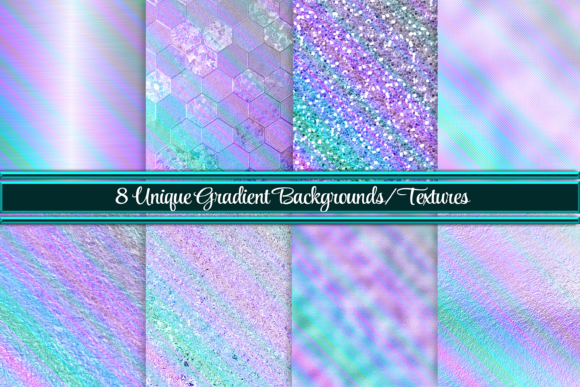 Print on Demand: Beautiful Gradient Backgrounds/Textures Graphic Backgrounds By Angela Wheeland