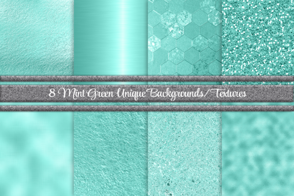 Print on Demand: Beautiful Mint Green Background/Textures Graphic Backgrounds By AM Digital Designs