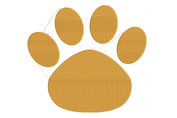 Print on Demand: Cat's Paw Cats Embroidery Design By ed.creative - Image 1