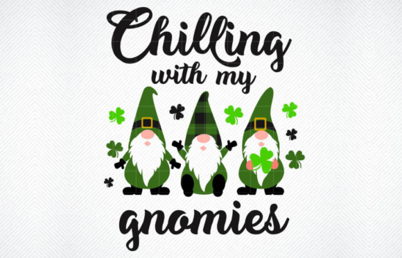 Download Free Chillin With My Gnomies Graphic By Svg Den Creative Fabrica for Cricut Explore, Silhouette and other cutting machines.