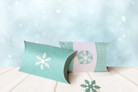 Christmas Snowflake Pillow Box Graphic 3D Pillow Box By RisaRocksIt