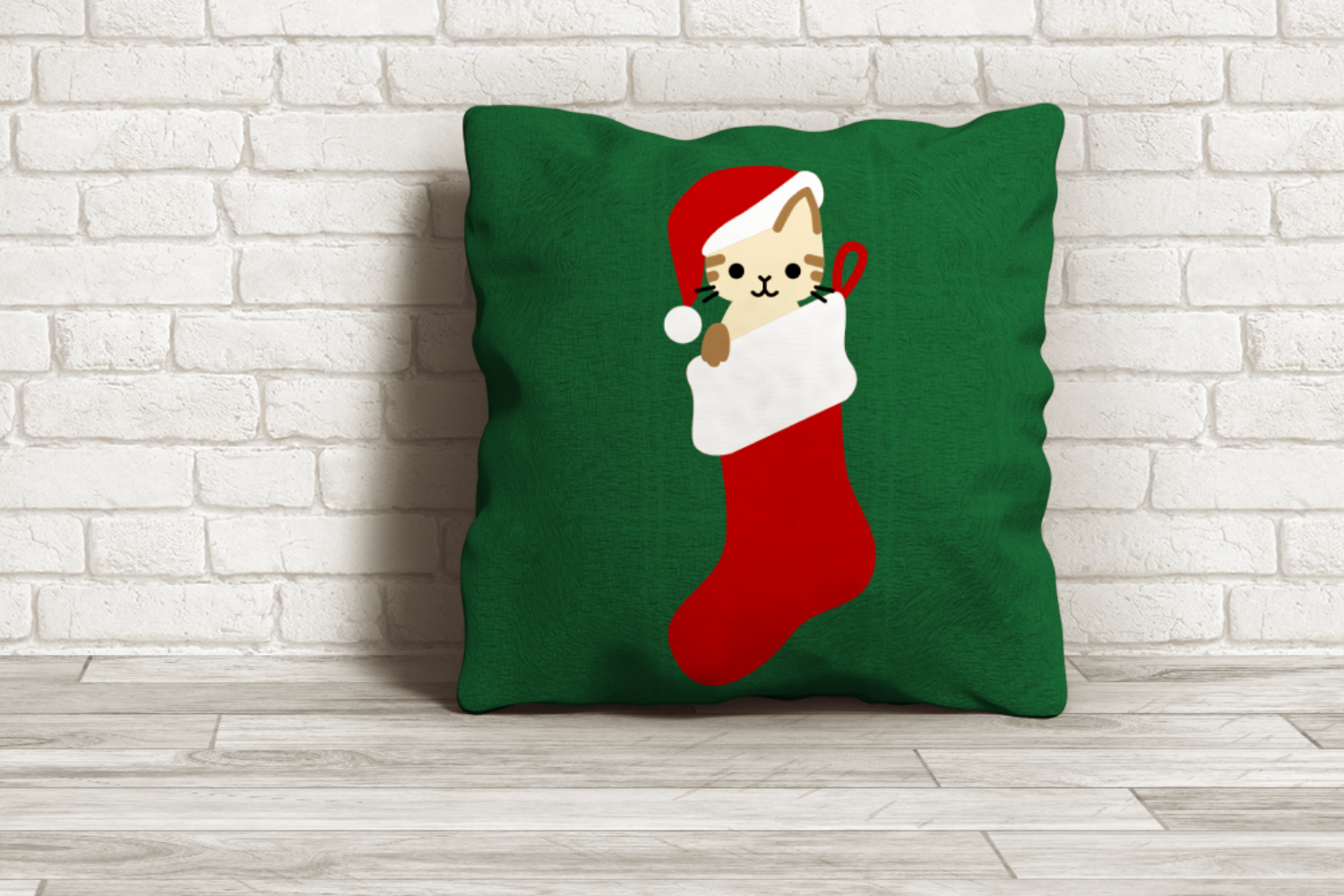 Download Free Christmas Stocking Cat Graphic By Risarocksit Creative Fabrica for Cricut Explore, Silhouette and other cutting machines.