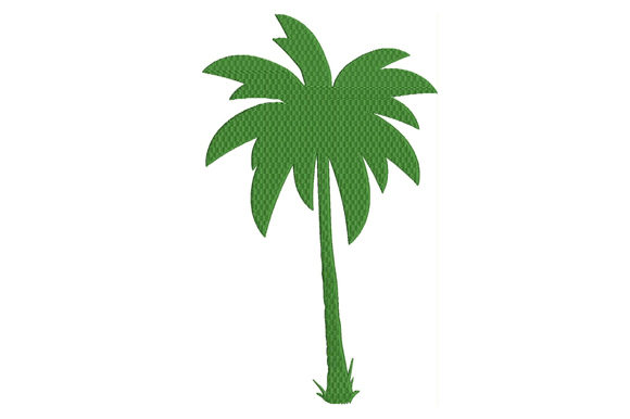 Print on Demand: Coconut Tree Forest & Trees Embroidery Design By ed.creative