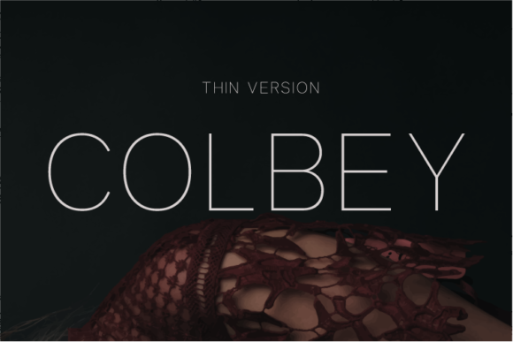 Print on Demand: Colbey Thin Sans Serif Font By Huntype