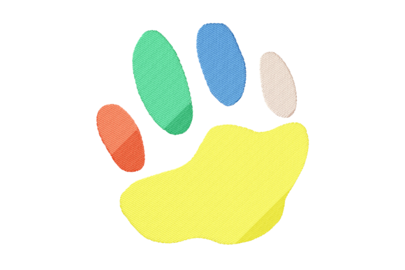 Colorful Kitten Paw Design Cats Embroidery Design By setiyadissi