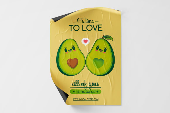 Download Free Cute Kawaii Avocados Love Flyer Template Graphic By Vectorwithin for Cricut Explore, Silhouette and other cutting machines.