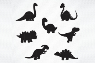 Download Free Dinosaur Silhouette Baby Grafico Por Svg Den Creative Fabrica for Cricut Explore, Silhouette and other cutting machines.