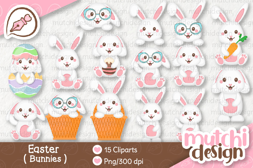 Download Free Easter Bunnies Graphic By Mutchi Design Creative Fabrica SVG Cut Files