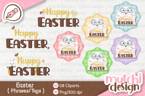 Print on Demand: Easter Complete Cute Kit Graphic Illustrations By Mutchi Design - Image 5