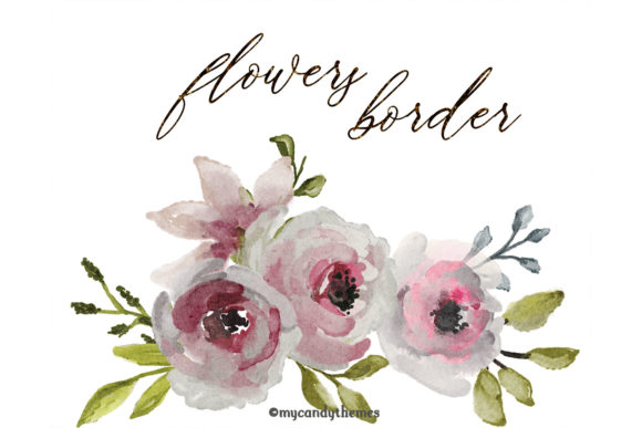 Flowers Watercolor Clipart Floral Wreath Graphic Illustrations By mycandythemes - Image 4