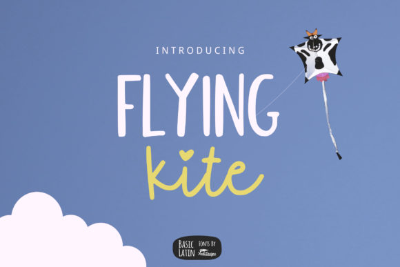 Print on Demand: Flying Kite Script & Handwritten Font By YandiDesigns