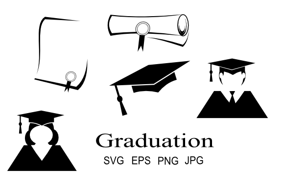 Download Free Graduation Icon Graphics Graphic By Artbyliz Creative Fabrica for Cricut Explore, Silhouette and other cutting machines.