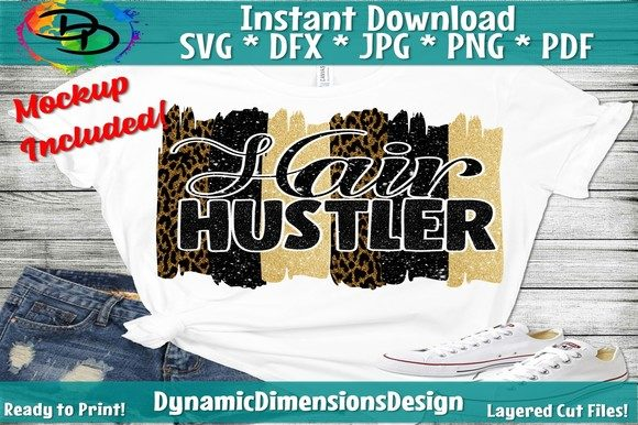 Print on Demand: Hair Hustler Graphic Crafts By dynamicdimensions