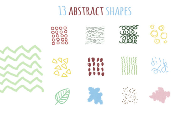 Download Free Hand Drawn Abstract Simple Shapes Graphic By Kaleriiatv for Cricut Explore, Silhouette and other cutting machines.