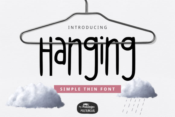 Print on Demand: Hanging Sans Serif Font By YandiDesigns