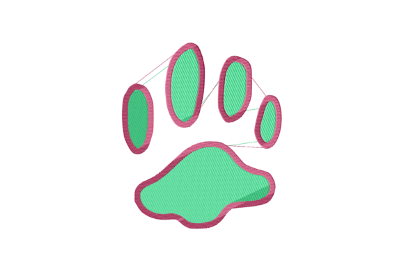 Kitten's Paw Design Cats Embroidery Design By setiyadissi