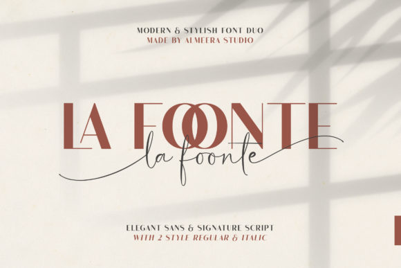 Print on Demand: La Foonte Display Schriftarten von Almeera Studio