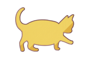 Print on Demand: Little Fat Cat Cats Embroidery Design By setiyadissi