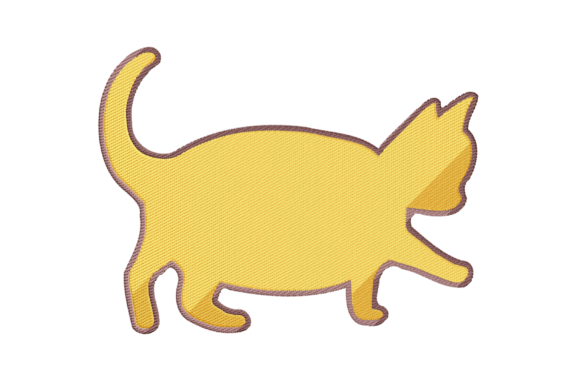 Little Fat Cat Cats Embroidery Design By setiyadissi