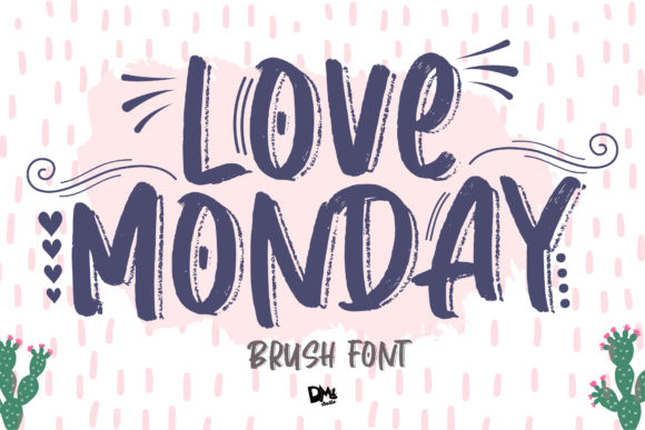 Download Free Love Monday Font By Dmletter31 Creative Fabrica for Cricut Explore, Silhouette and other cutting machines.