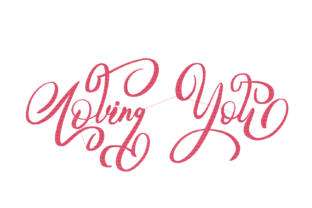 Print on Demand: Loving You Lettering Wedding Quotes Embroidery Design By setiyadissi