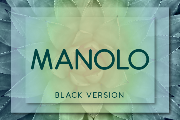 Print on Demand: Manolo Black Sans Serif Font By Huntype