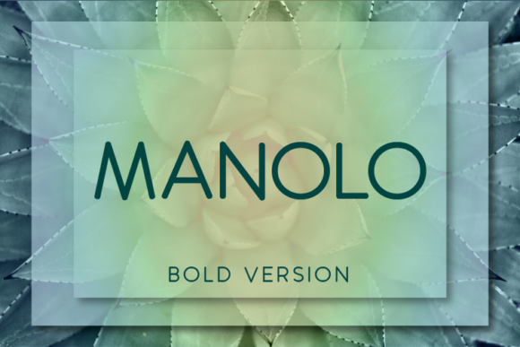 Print on Demand: Manolo Bold Sans Serif Font By Huntype