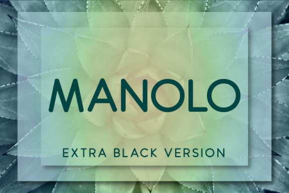 Print on Demand: Manolo Extra Black Sans Serif Font By Huntype