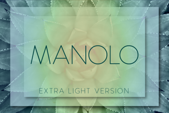 Print on Demand: Manolo Extra Light Sans Serif Font By Huntype