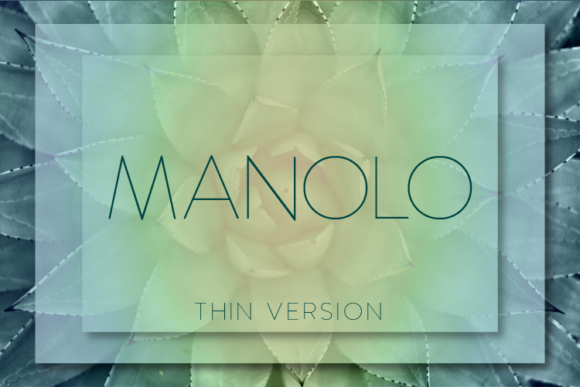 Print on Demand: Manolo Thin Sans Serif Font By Huntype
