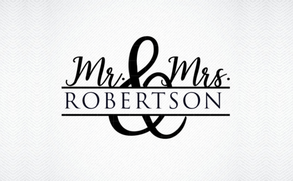 Mr And Mrs Name Graphic By Svg Den Creative Fabrica