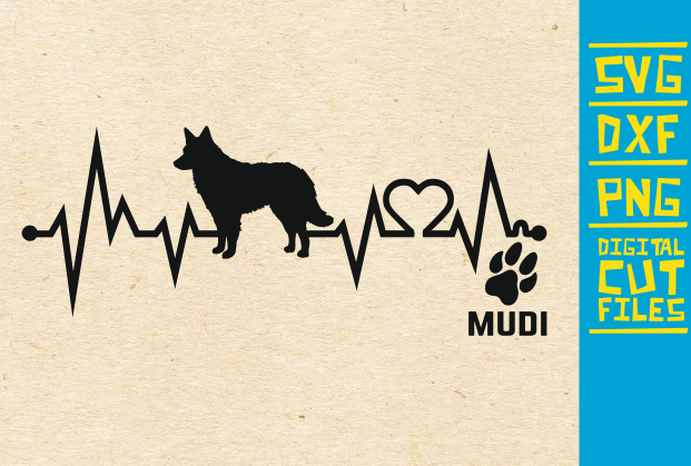 Download Free Mudi Dog Graphic By Svgyeahyouknowme Creative Fabrica for Cricut Explore, Silhouette and other cutting machines.