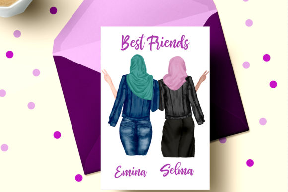 Muslim Women Clipart Muslim Girls Graphic Illustrations By LeCoqDesign - Image 4