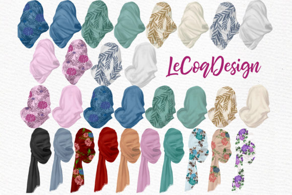 Muslim Women Hijab Clipart Graphic Illustrations By LeCoqDesign - Image 3