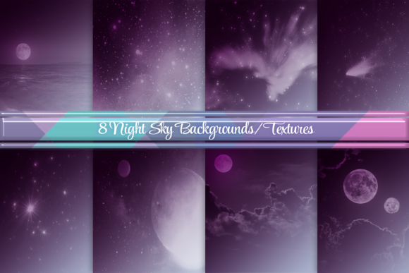 Night Sky Moon Backgrounds Textures Graphic Backgrounds By AM Digital Designs
