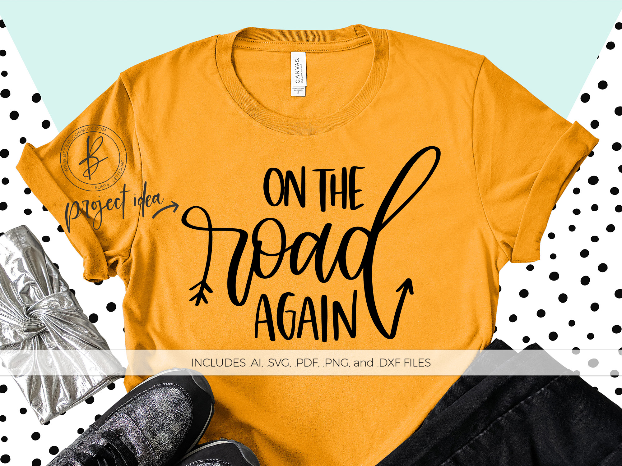 Download Free On The Road Again Graphic By Beckmccormick Creative Fabrica for Cricut Explore, Silhouette and other cutting machines.