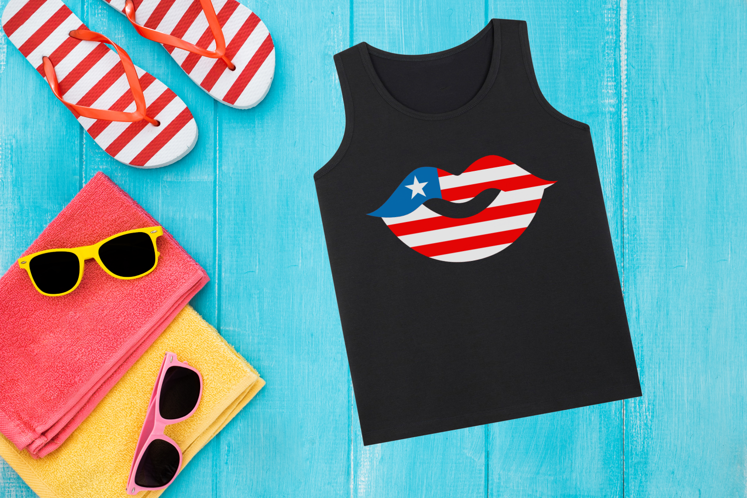 Download Free Patriotic American Lips Graphic By Designedbygeeks Creative for Cricut Explore, Silhouette and other cutting machines.
