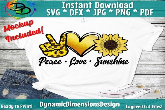 Download Free Peace Love Sunshine Graphic By Dynamicdimensions Creative Fabrica for Cricut Explore, Silhouette and other cutting machines.