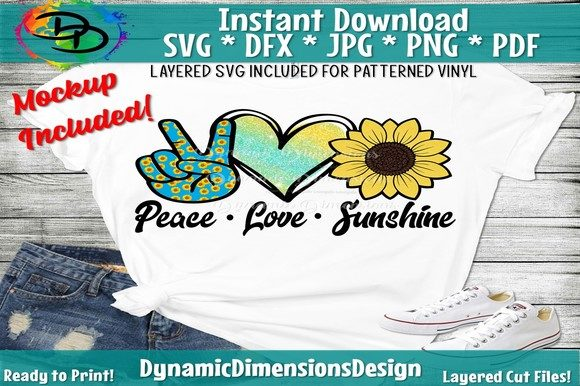 Print on Demand: Peace Love Sunshine Graphic Crafts By dynamicdimensions