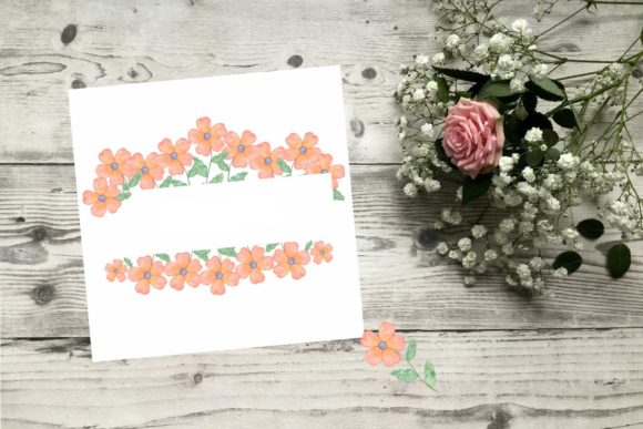 Download Free Pink Flowers Frames Graphic By Contes De Fee Creative Fabrica for Cricut Explore, Silhouette and other cutting machines.