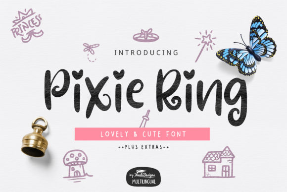 Print on Demand: Pixie Ring Sans Serif Font By YandiDesigns