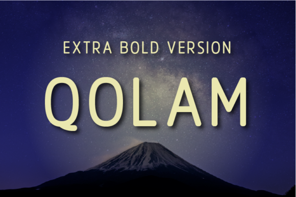 Print on Demand: Qolam Extra Bold Sans Serif Font By Huntype