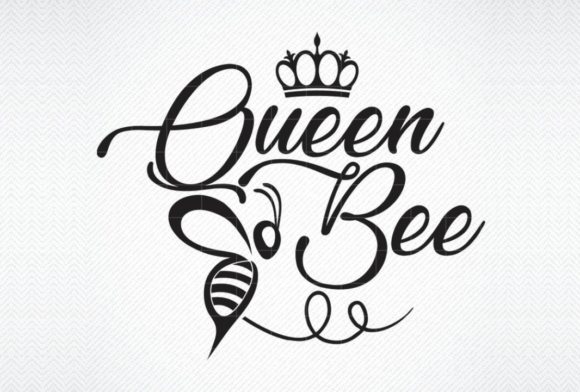 Download Free Queen Bee Graphic By Svg Den Creative Fabrica for Cricut Explore, Silhouette and other cutting machines.