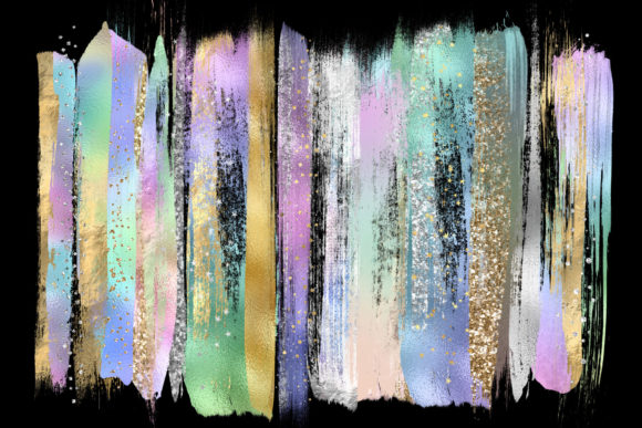 Rainbow Pastel Brush Strokes Graphic Illustrations By Digital Curio - Image 2