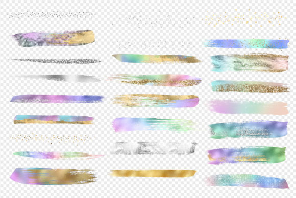 Rainbow Pastel Brush Strokes Graphic Illustrations By Digital Curio - Image 3